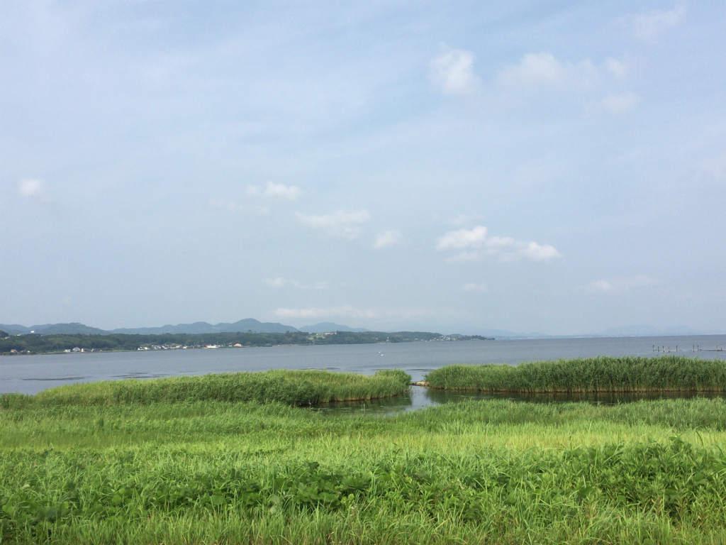 ここからも宍道湖が見える