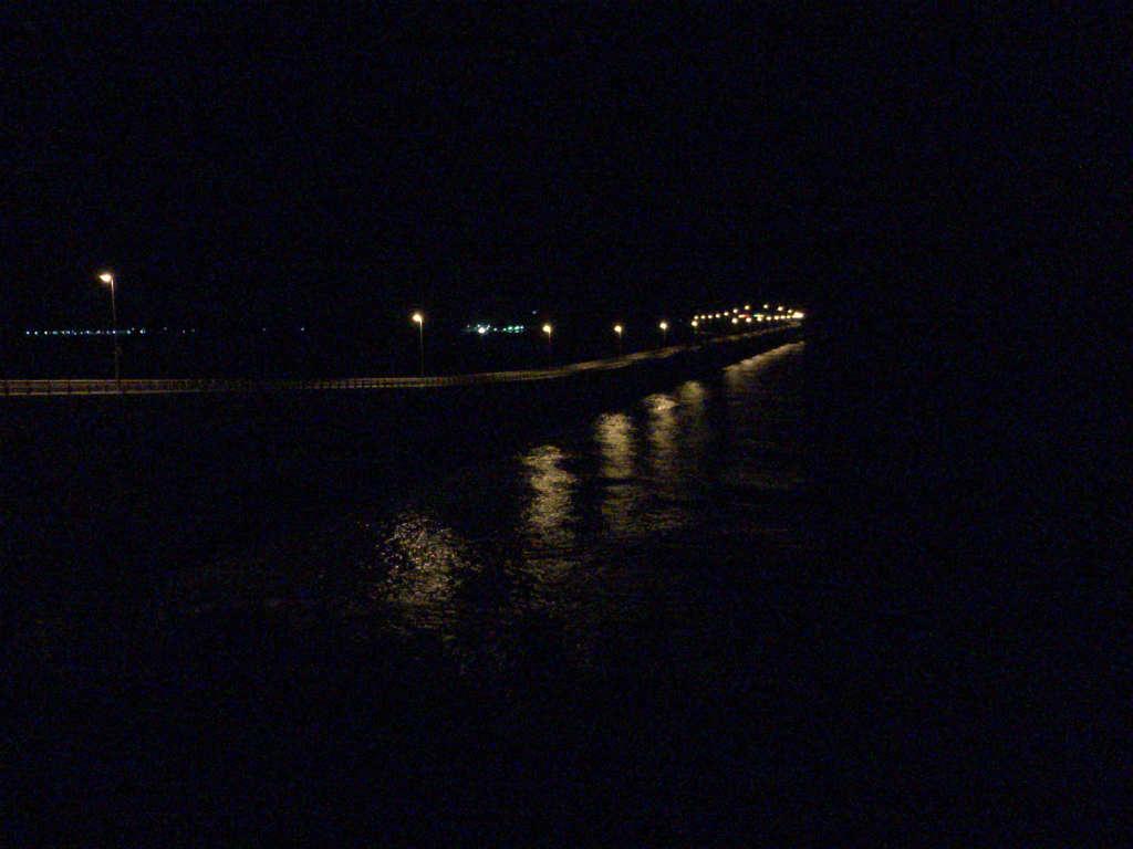 夜の角島大橋2