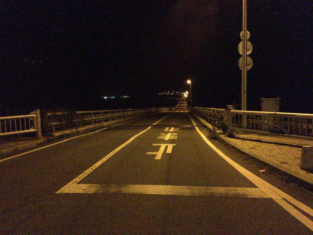 夜の角島大橋3