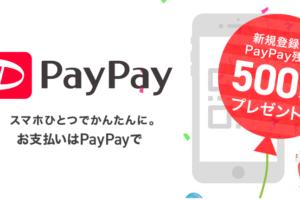 PayPayキャンペーンに乗っかろう